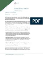 Principles for Postal Service Reform
