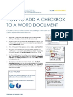 How to Add a Checkbox to a Word Document