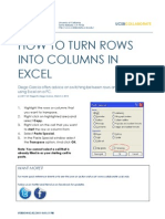 How to Turn Rows into Columns in Excel