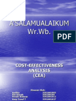 Cost-effectiveness Analysis Persentasi