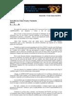Nota Al Pte. de UNACE Gral (SR) Lino Oviedo