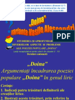 Doina - Vaianta Vasile Alecsandri