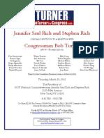 Congressman Bob Turner (NY-09) - Thursday 3-29 Home of Jennifer Saul Rich