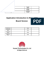 Topic on Application Introduction to Metro1000 Board Version
