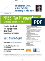 Tax Flyer Levin