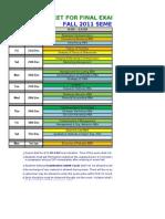 Final-Fall 2011 Date Sheet .v1