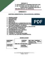 Unidad II Auditoria Administrativa