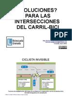 ¿Soluciones? para las intersecciones del carril-bici