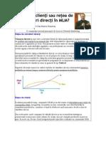 Retea de Clienti Sau Retea de vânzatori Directi în MLM