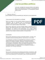 Las funciones de los partidos políticos — Biblioteca del Congreso Nacional de Chile