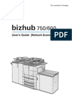Konica All-In-One Laser Printer (Bizhub 600) Network Scanner Operations User Manual