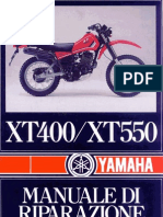 Yamaha Xt 400 Xt 550 - Manuale Per Officina Italiano