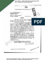 Kerchner & Laudenslager v Obama - Order of Commonwealth Court of PA - 2 Mar 2012