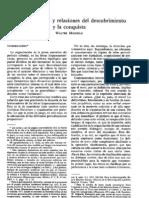 MIGNOLO, Walter-Cartas, crónicas y relaciones del descubrimiento y la conquista