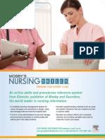Mosby's Nursing Skills Full Brochure 2008