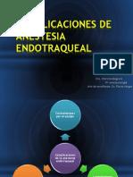 Complicaciones de Anestesia Endotraqueal