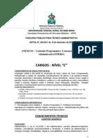 ANEXO 03 – Conteúdo Programático concurso ufersa