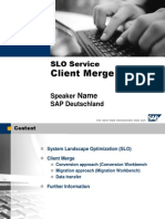SAP SLO System Client Merge
