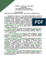 H1000_2006 privind organizarea şi funcţionarea Agenţiei Naţionale a Funcţionarilor Publici