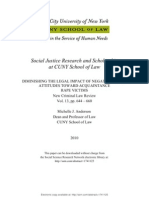 DIMINISHING THE LEGAL IMPACT OF NEGATIVE SOCIAL ATTITUDES TOWARD ACQUAINTANCE RAPE VICTIMS--MJ Anderson