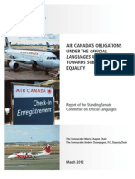 Senate report on Air Canada's language obligations