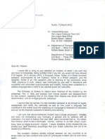 Letter from Greek Embassy in Dublin to Aer Lingus