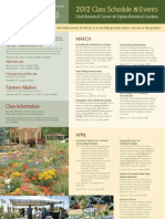 2012 Class Schedule & Events Front Page