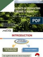 Coût de transaction & théorie d'agence (Master ACG FSJESM)