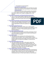 CI 407 Sub Folder- Activities to Enrich Lessons