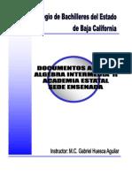 Compendio Anexos Algebra Inter Media II 2012-1