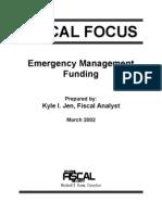 Emergency Management Funding in Michigan - 2002