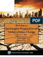 Workshop on Sociological Perspectives on Global Climate Change