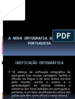A NOVA Ortografia Da Lingua Portuguesa