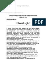 Plataforma Organizacional dos Comunistas Libertários - Nestor Makhno - BPI