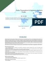 China Television Radio Transmitters Apparatus Industry Profile Isic3220