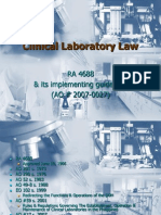 Clinical Laboratory Law