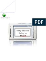Sony Ericsson - Nepal - Market Plan