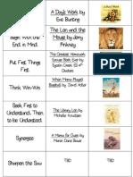 2011-2012 Book List