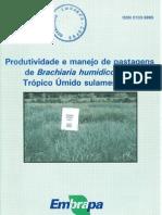Produtividade e manejo de pastagens de Brachiaria humidicola no trópico sulamericano