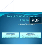 Role of MAVIM in Women Empowerment