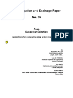 FAO Irrigation and Drainage Paper 56