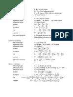 ECE 302 List of Equations