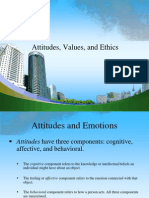 Attitudes Values and Ethics PPT @ BEC DOMS MBA HR