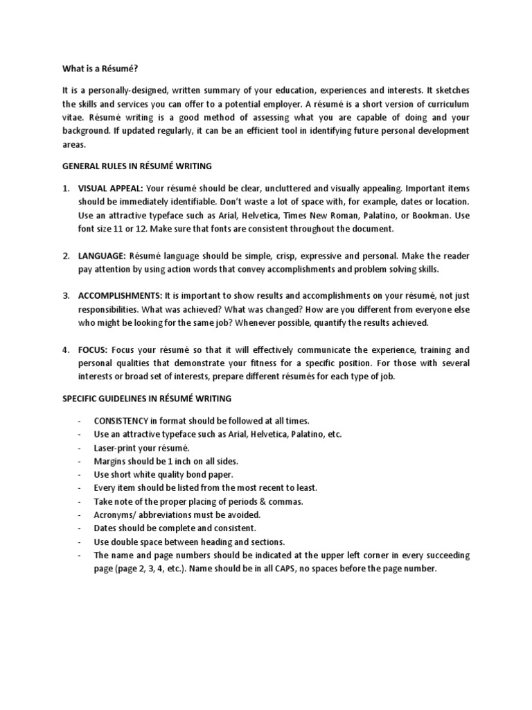 dlsu resume format academia business