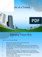 Role of a Trainer Ppt @ Bec Doms Mba 2010