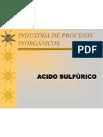 PROCESOS INORGÁNICOS. ACIDO SULFÚRICO