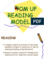 Bottom Up Reading Model