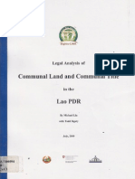 Communal Lnd and Communal Title in the Lao PDR