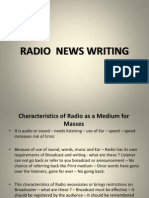 Radio News Writing