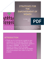 Strategies for the Empowerment of Women